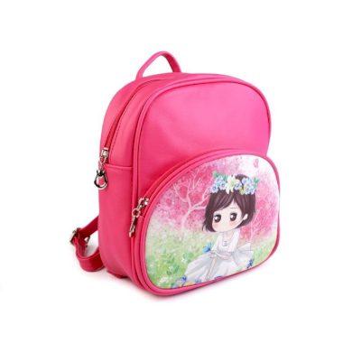 Dětský batoh Manga girl 23 cm Tmavě růžový Who cares FS720942SS04