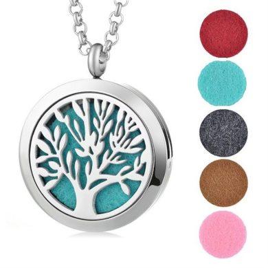Ocelový náhrdelník Strom života v pěti barvách Impress Jewelry SSPFEC8