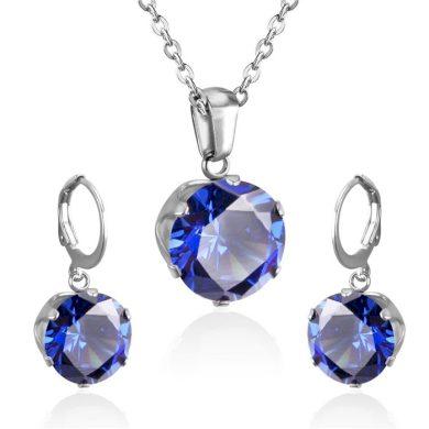 Sada šperků z chirurgické oceli Blue Eyes Impress Jewelry F285147DB