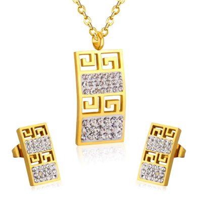 Souprava šperků z chirurgické oceli Geometric Sun Impress Jewelry F2521477G