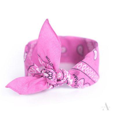 Šátek Bandana Classic rebel Růžový Artofpolo FAsz13014SS13