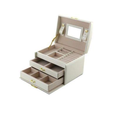 Šperkovnice na šperky i hodinky krémová BMD CAR111631