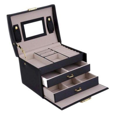 Šperkovnice na šperky i hodinky Černá BMD CARPD49CZ