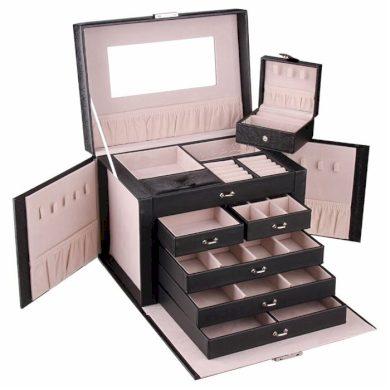 Luxusní kufřík na šperky Joshua Černá BMD CARPD64CZ