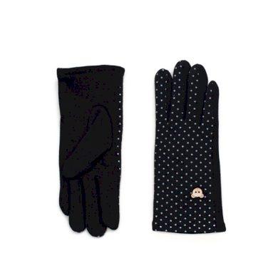 ArtOfPolo dívčí rukavice s medvídkem Černé Artofpolo FArk15355ss01