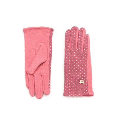 ArtOfPolo dívčí rukavice s medvídkem Růžové Artofpolo FArk15355ss02