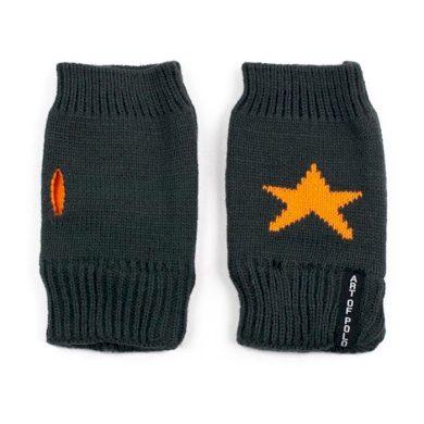 ArtOfPolo krátké rukavice bez prstů Star Tm. šedé Artofpolo FArk13419ss03