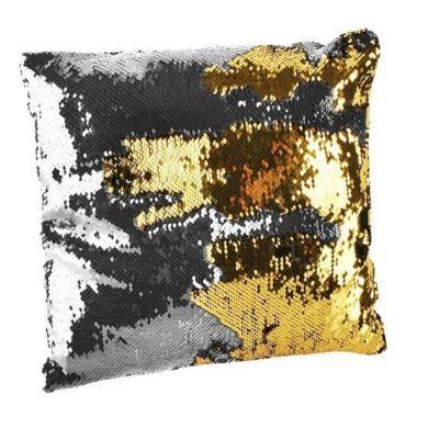 Polštář flitrový měnící 37x37 zlato-stříbrný  FI5437