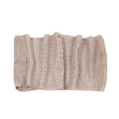 ArtOfPolo kruhový pletený šál s cvoky Béžový  FAsz13341ss07