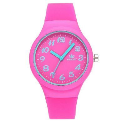 Dámské silikonové hodinky Jely Girl - růžové willis FJLLPNK