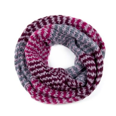 ArtOfPolo kruhový tunelový pletený šál Růžový Artofpolo FAsz13320ss03