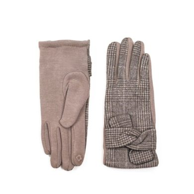 ArtOfPolo dámské rukavice Oxford Hnědé Artofpolo FArk18407ss01