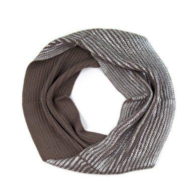 ArtOfPolo kruhový pletený šál komín Silver Artofpolo FAsz13322ss02