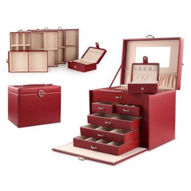 Stenberg Luxusní kufřík na šperky ETUI Červená BMD CARPD64CZE