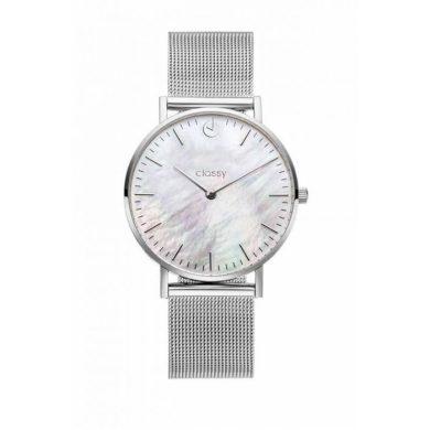 Classy dámské hodinky s opálovým odleskem Stříbrné Shim Watch CARZ664S