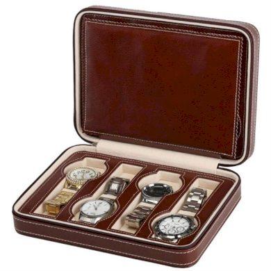 Úložný box na hodinky 8 komor Hnědý BMD CARPD60BR
