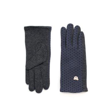 ArtOfPolo dívčí rukavice s medvídkem Šedé Artofpolo FArk16566ss03