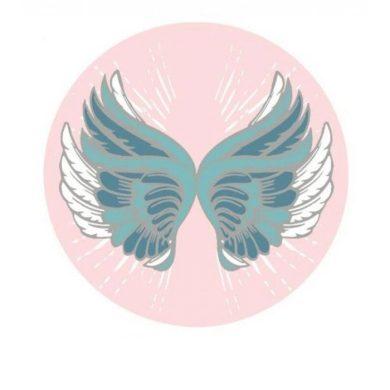 Kruhová plážová osuška Boho motýl růžový INS CArREC29