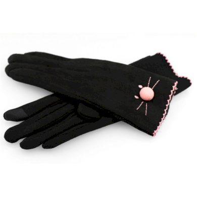 Dámské rukavice s vyšívkou kočky Modré Artofpolo CARREK106CZ