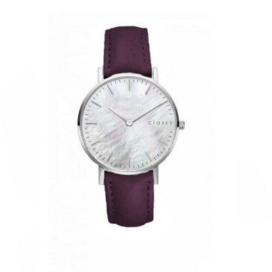 Classy dámské hodinky s opálovým odleskem Fialové Shim Watch CARZ670F