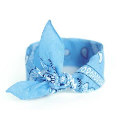 Šátek Bandana Classic rebel světlě modrý Artofpolo FAsz13014SS09