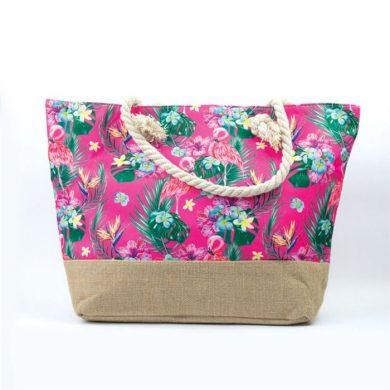 Plážová i nákupní taška Plameňáci růžový Allepaznokcie ALLE11277-9