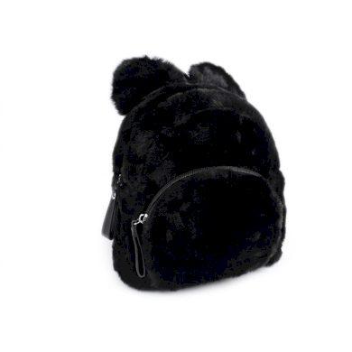 Dívčí střední chlupatý batůžek Medvěd Černý Lifestyle ST770796ss04