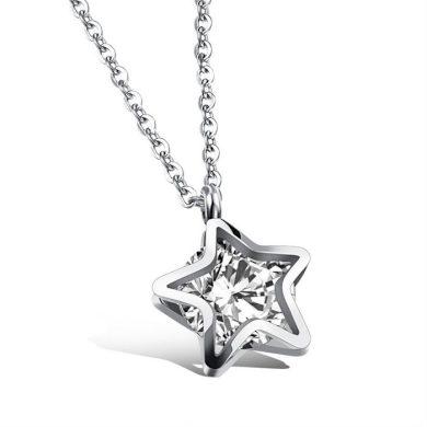 Náhrdelník z nerezové oceli Hvězda se zirkonem Impress Jewelry 160910112212