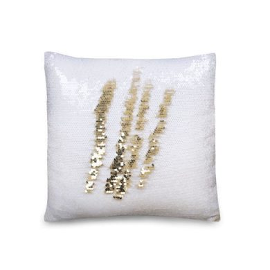 Flitrový Povlak na polštář 40x40 Bílý - zlatý Stoklasa FS720786s03