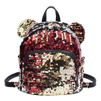 Dívčí flitrový batůžek s oušky Růžový Lifestyle CARPL130KOL