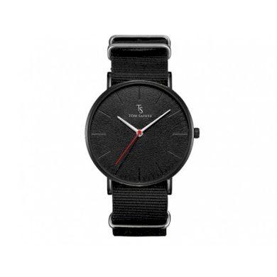 TOM SAINTZ hodinky s nylonovým páskem Černé YAZOLE CARZM194CZ