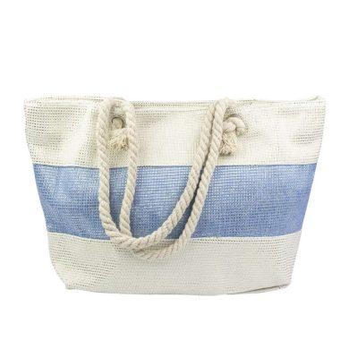Designová Plážová taška Modrý pruh Allepaznokcie ALLE85632-115
