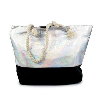 Designová Plážová taška Metalická Holo Allepaznokcie ALLE85632-118