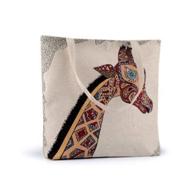 Lněná nákupní nebo plážová taška Žirafa Lifestyle FS740363SS17
