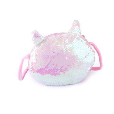 Flitrová kabelka kočka s oušky Bílá Lifestyle F770990ss01
