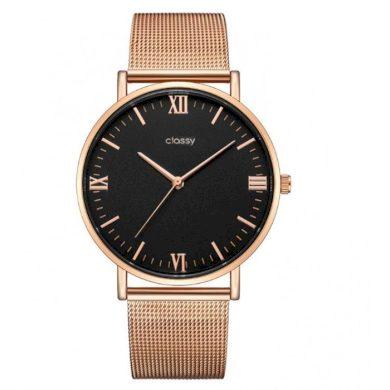 Classy dámské hodinky Rose gold Elegán Shim Watch CARZ685