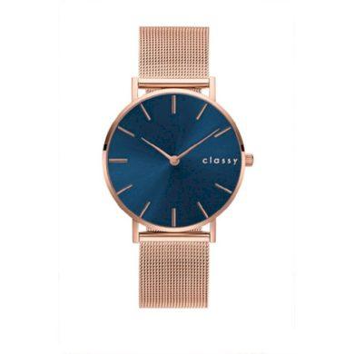 Classy dámské hodinky Rose Blue line Shim Watch CARZ684