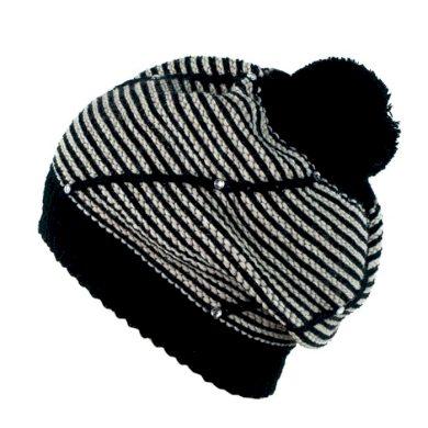 ArtOfPolo dámský baret s krystaly Černý Artofpolo FAcz13805