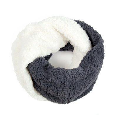 Dvoubarevný Kruhový šál Fleece šedý Artofpolo FAsz13182ss002