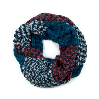 ArtOfPolo kruhový tunelový pletený šál Modrý Artofpolo FAsz13320ss05