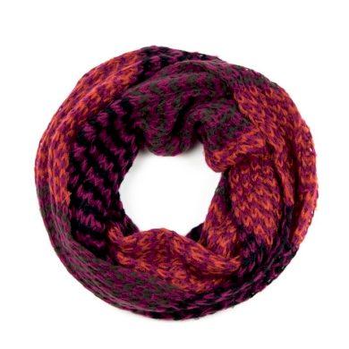 ArtOfPolo kruhový tunelový pletený šál Červený Artofpolo FAsz13320ss04