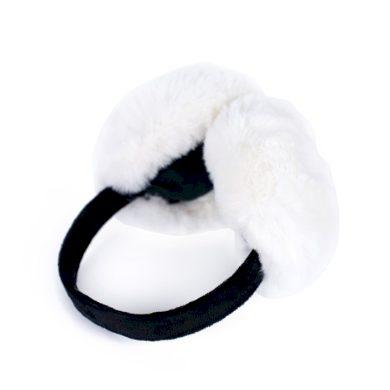 Plyšové klapky na uši Rabbit Bílé Artofpolo FAcz19410ss01