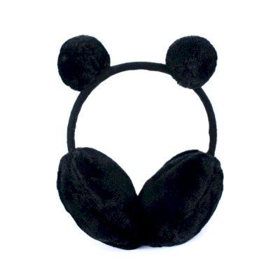 Plyšové klapky na uši Funny bear Černá Artofpolo FAcz19409ss04