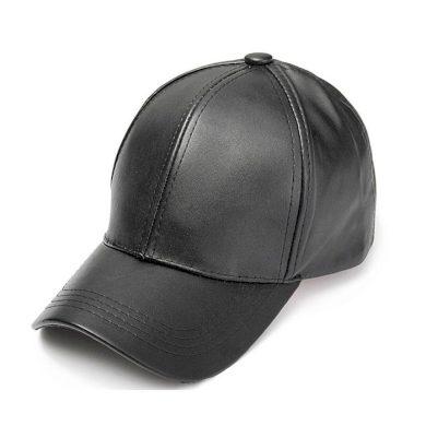 Dámská kožená kšiltovka Černá Carla CAR12CZ