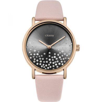 Classy dámské hodinky Shine Black s krystaly  Classy CARZ693