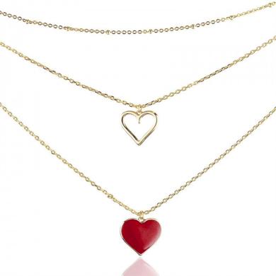Ocelový náhrdelník Two in Love Heart Impress Jewelry CARNST979