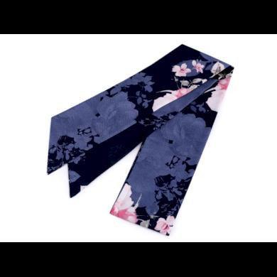 Šátek úzký do vlasů, na krk, na kabelku růže Modrá Lifestyle FA810235ss02