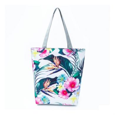 Plážová i nákupní taška Palmy s květy Carla CARTP10WZ3