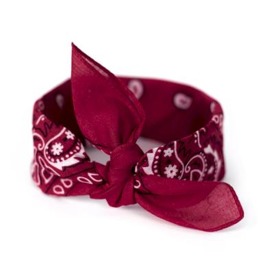 Bavlněný šátek Bandana Bordový Artofpolo FAsz13014SS16