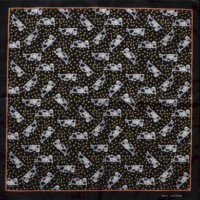 Bavlněný šátek Veselý kostlivci Artofpolo ART-VSKL09